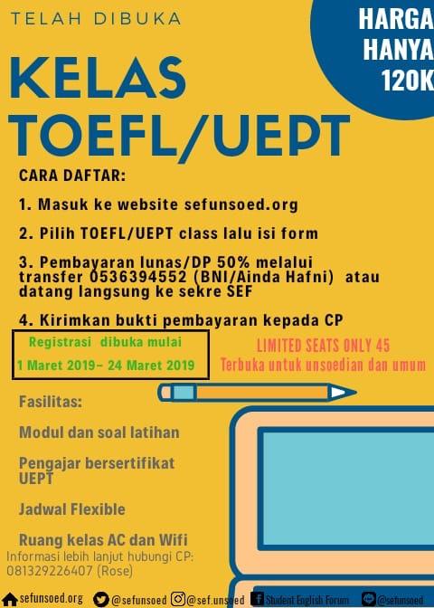 TOEFL/UEPT Class