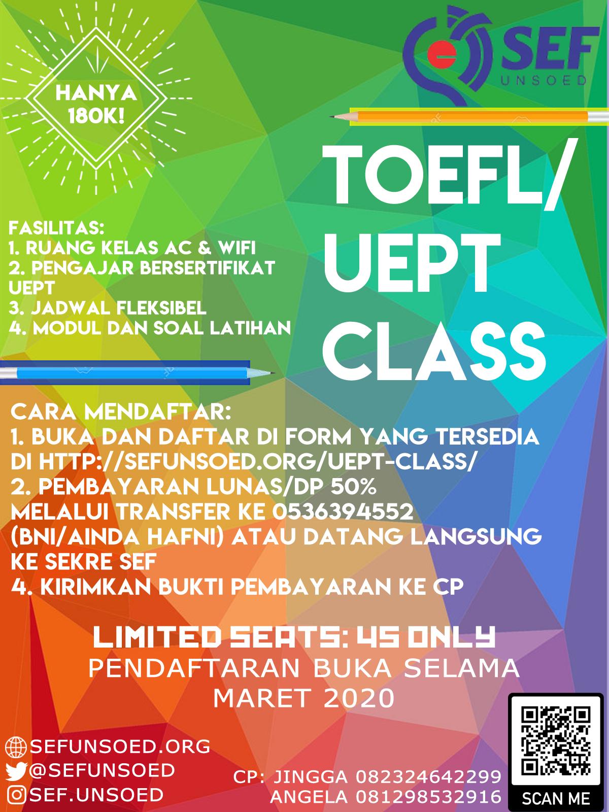 TOEFL / UEPT Class
